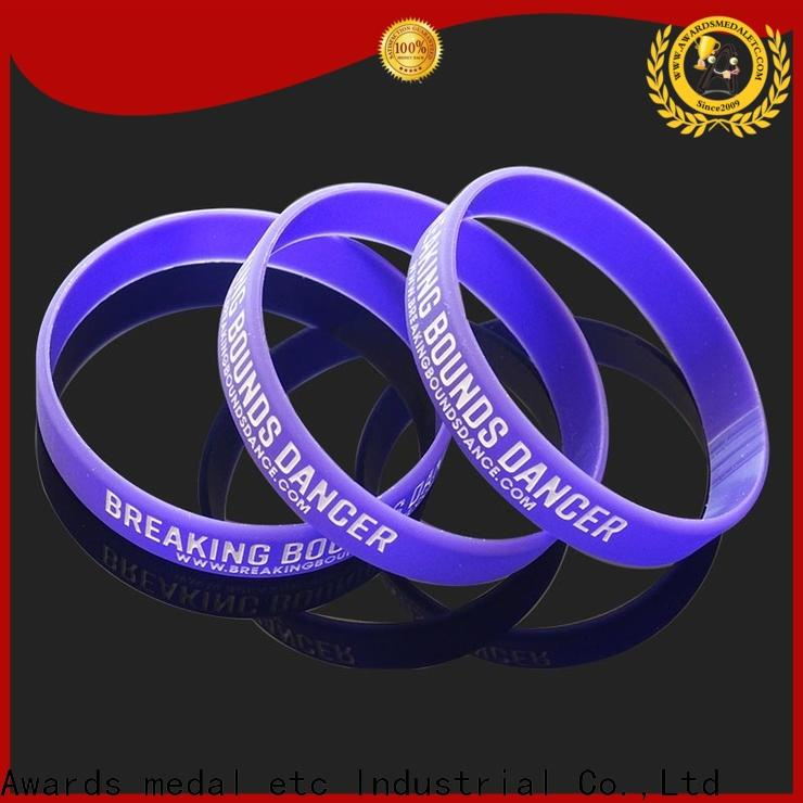 Awards Medal commercial printed silicone wristbands trader for sport