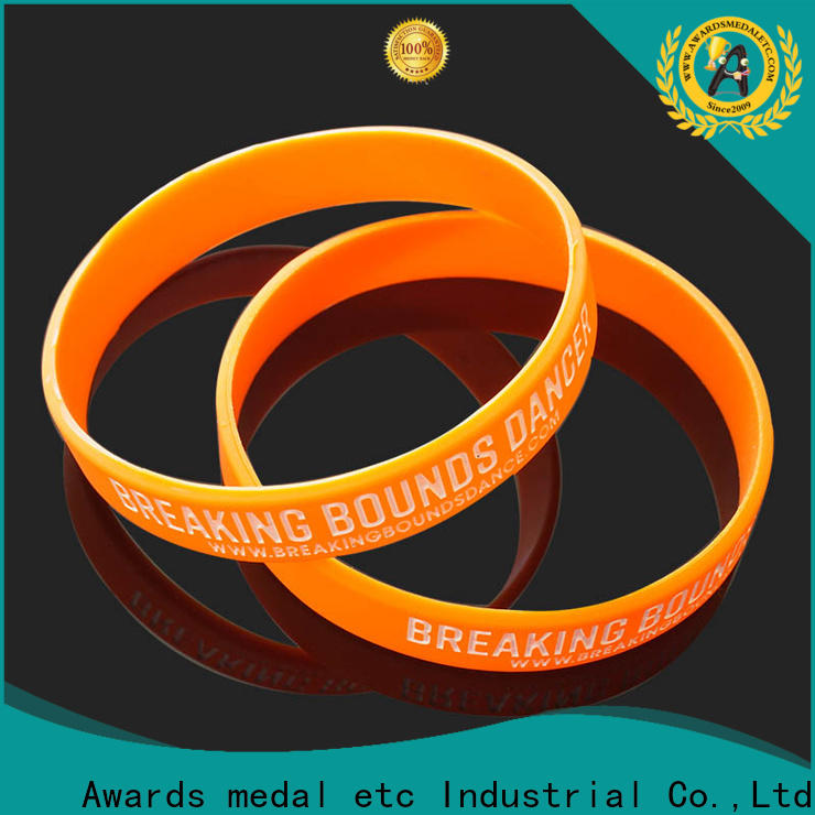 sports medal suppliers & printed silicone wristbands