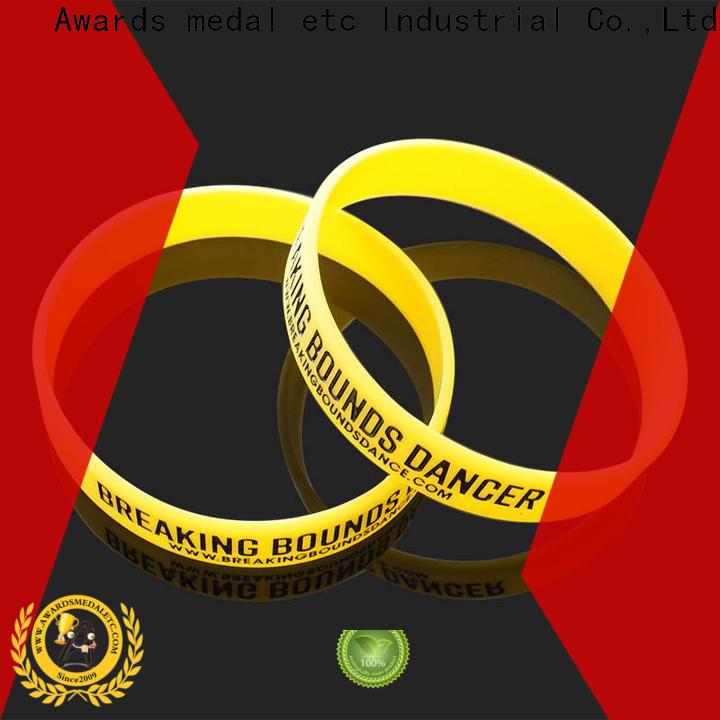 Awards Medal bracelets printed silicone wristbands exporter for kids
