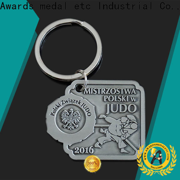 Awards Medal latest custom logo metal keychains trade cooperation for promotion
