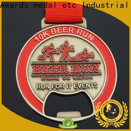 Awards Medal China beer bottle opener bulk production for souvenir