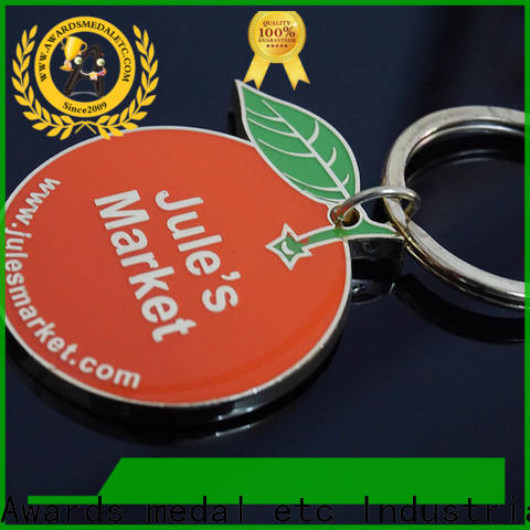 Awards Medal good quality custom metal keychains wholesale trade cooperation for promotion