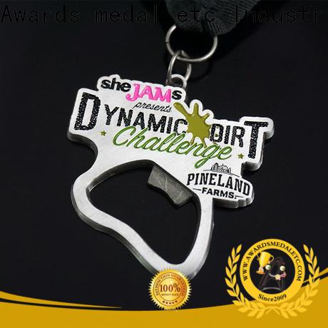Awards Medal fashion custom bottle openers bulk production for souvenir