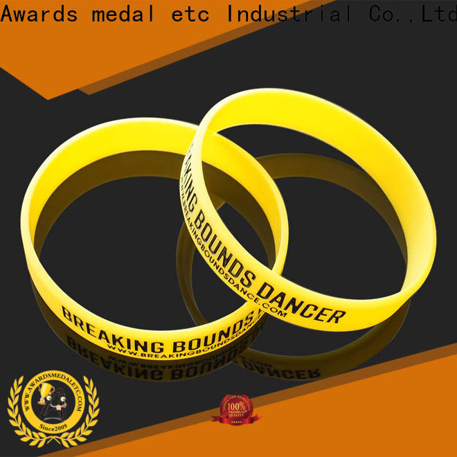 Awards Medal commercial custom silicone wristbands export worldwide for event