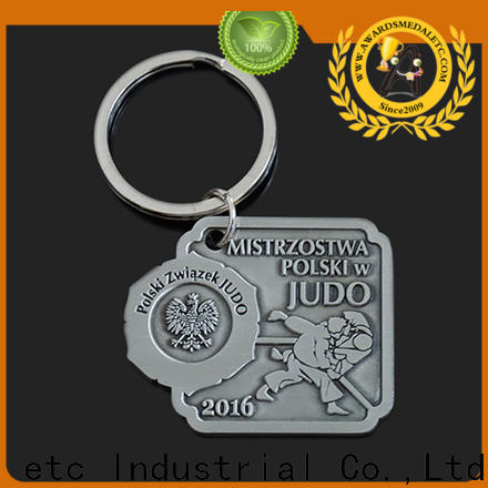 Awards Medal good quality custom metal keychains wholesale trade cooperation for gift