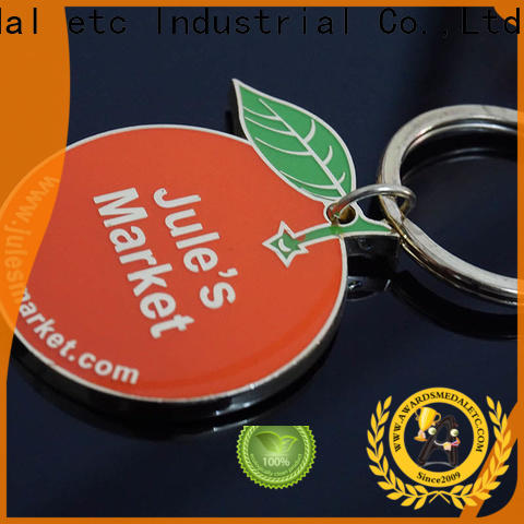 Awards Medal latest custom die cut metal keychains win-win cooperation for gift