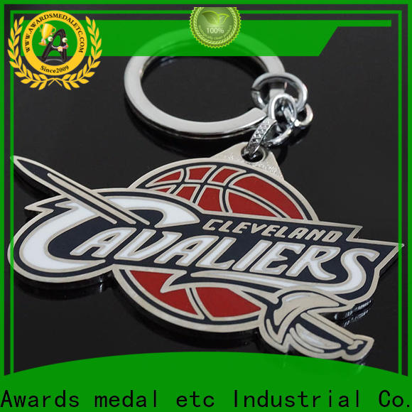 Awards Medal inexpensive custom logo metal keychains trade cooperation for wholesale