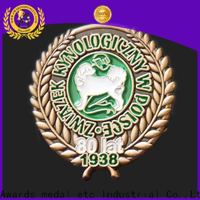 Awards Medal 100% quality enamel pin manufacturer looking for buyer for garment
