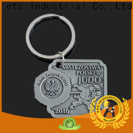 Awards Medal keychian custom logo metal keychains win-win cooperation for gift