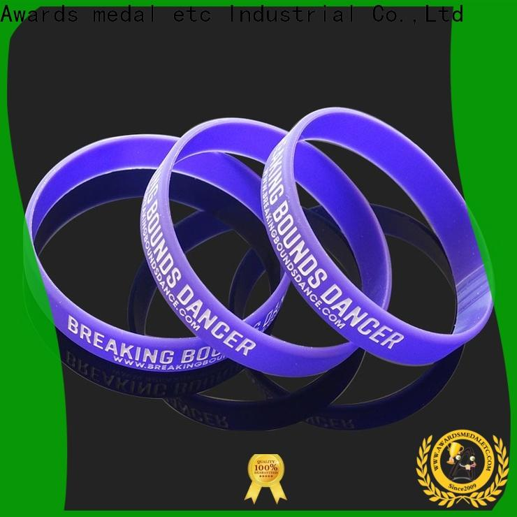 Awards Medal cost-effective custom silicone wristbands export worldwide for sport