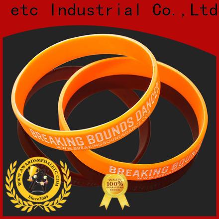 Awards Medal commercial custom silicone bracelets trader for sport