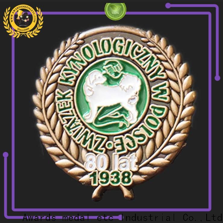 Awards Medal oem enamel pin manufacturer producer for gift