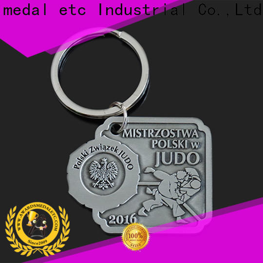 Awards Medal keychian custom metal keychains trade cooperation for promotion