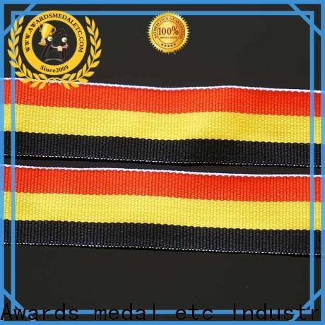Awards Medal red satin ribbon lanyards compact packaging for sport event