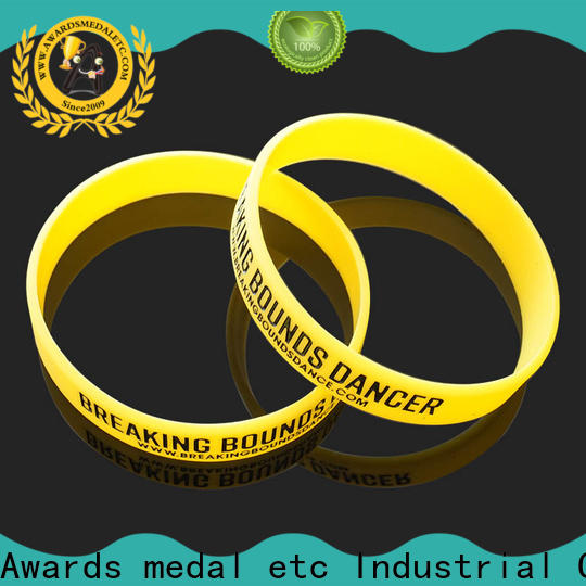 Awards Medal silicon silicone rubber wristbands trader for kids