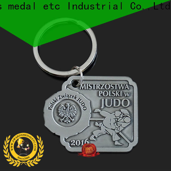 Awards Medal or metal key chains trade cooperation for wholesale