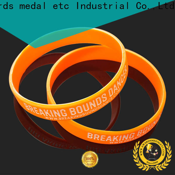 Awards Medal gift silicone wristbands exporter for kids