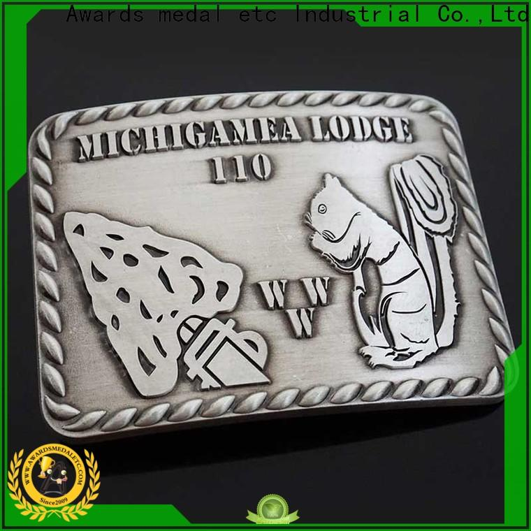 Awards Medal 3d belt buckle manufacturers high reliability for wholesale