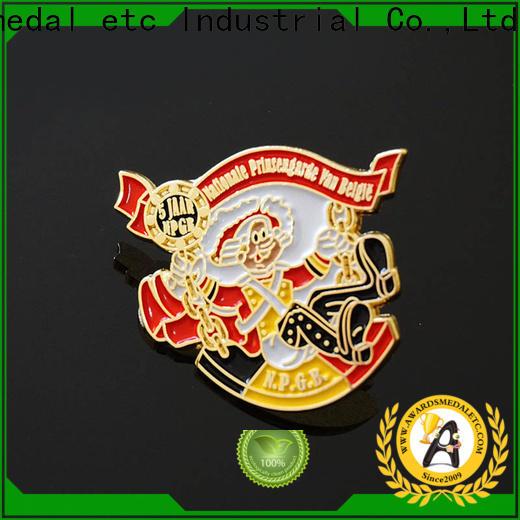 Awards Medal oem enamel pin badges looking for buyer for garment