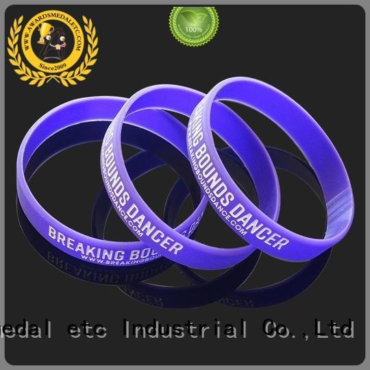 Custom Logo Printed Silicone Wrist Band Printed Silicone Rubber Bracelets