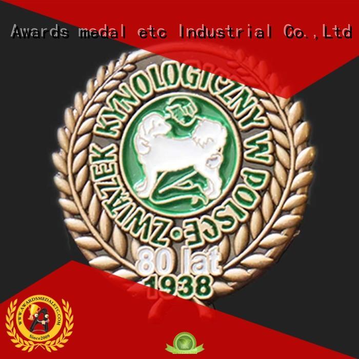 Awards Medal 100% quality enamel pins maker shaped for garment