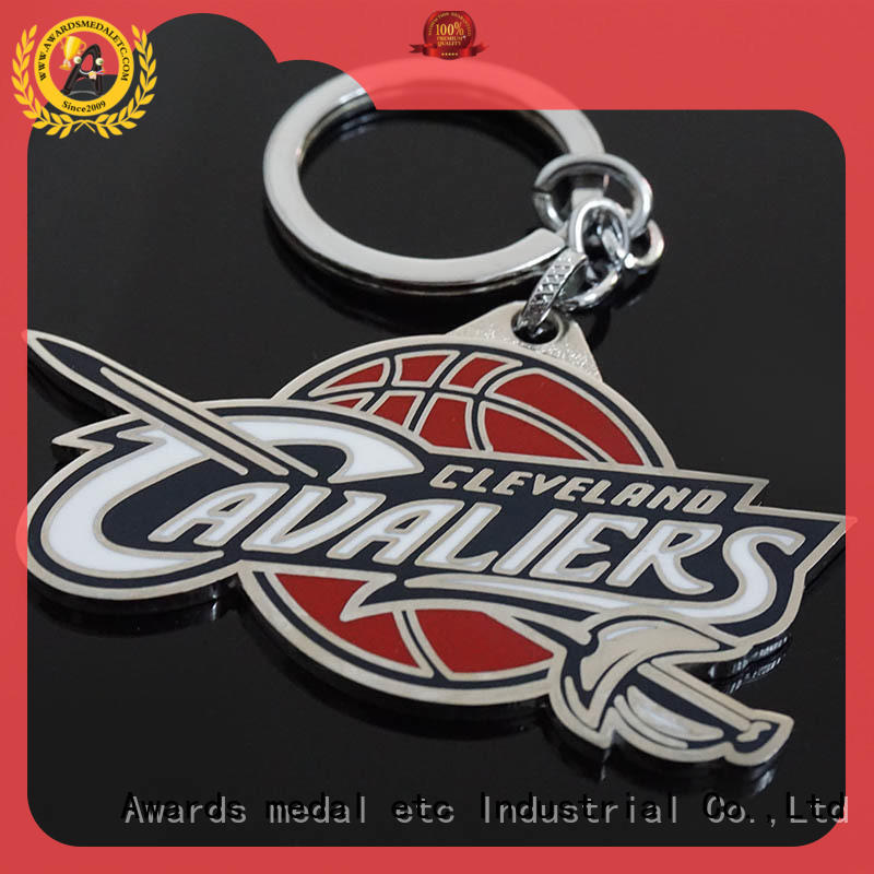 custom die cut metal keychains zinc for wholesale Awards Medal