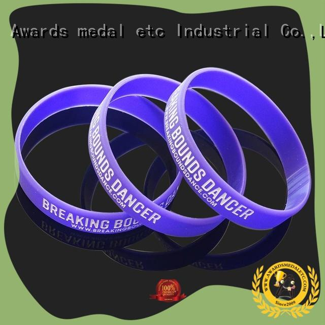 Awards Medal commercial silicone wristbands printed for event