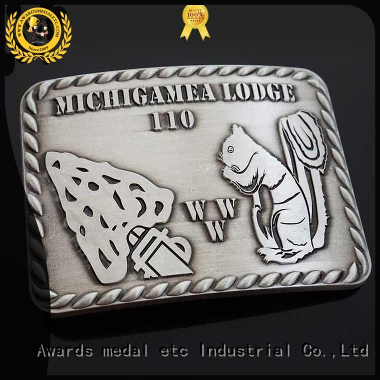 Awards Medal struck western belt buckles personalized for sale