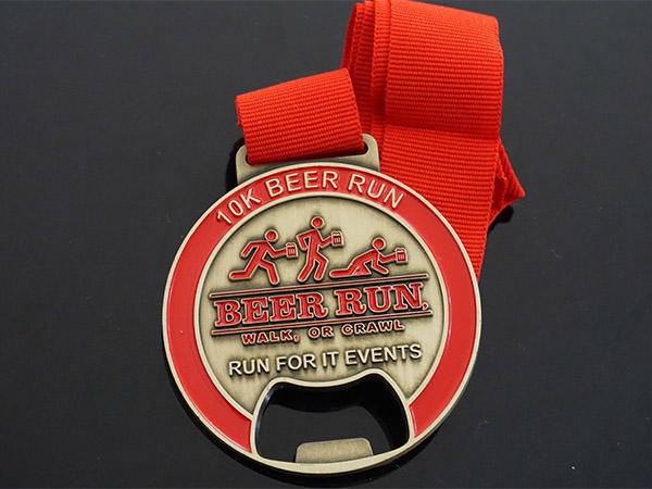 oval picture metal beer bottle opener Awards Medal Brand
