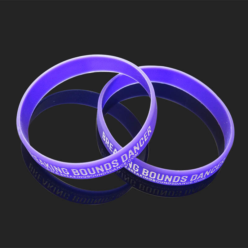 Custom Logo Printed Silicone Wrist Band Printed Silicone Rubber Bracelets