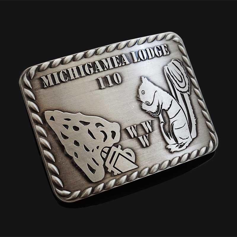 3D logo gold silver plated stainless steel metal custom western belt buckle manufacturer