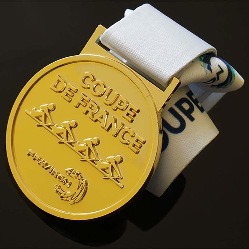 Metal Sports Rowing Events Awards Metal Medals, Custom Logo With Sublimated Ribbon