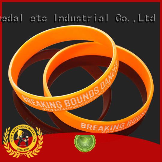 Awards Medal commercial custom silicone bracelets trader for kids