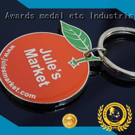 Awards Medal design custom logo metal keychains international market for gift