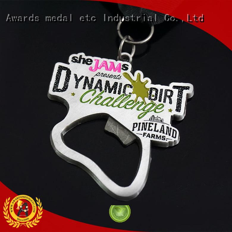 Awards Medal originality beer bottle opener bulk production for events