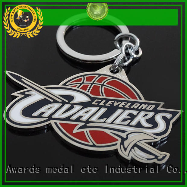 Awards Medal good quality custom metal keychains trade cooperation for wholesale