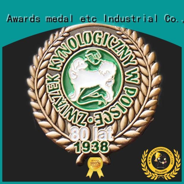 Awards Medal best enamel pin badges overseas trader for souvenir