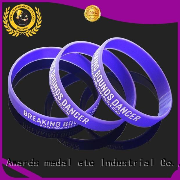 commercial custom silicone bracelets fashion trader for sport