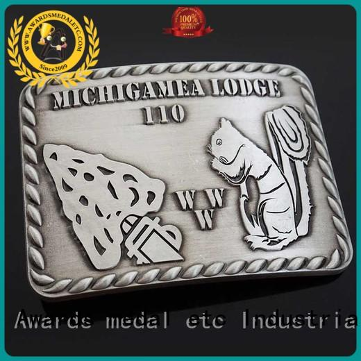 Awards Medal customized custom made belt buckles design for mass-market