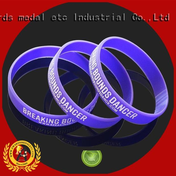 Awards Medal commercial silicone wristbands innovative product for kids