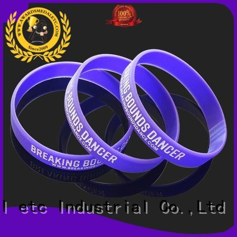 Awards Medal commercial silicone rubber wristbands bracelets for kids