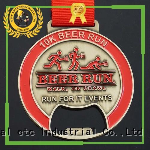 Awards Medal fashion custom beer bottle opener bulk production for events