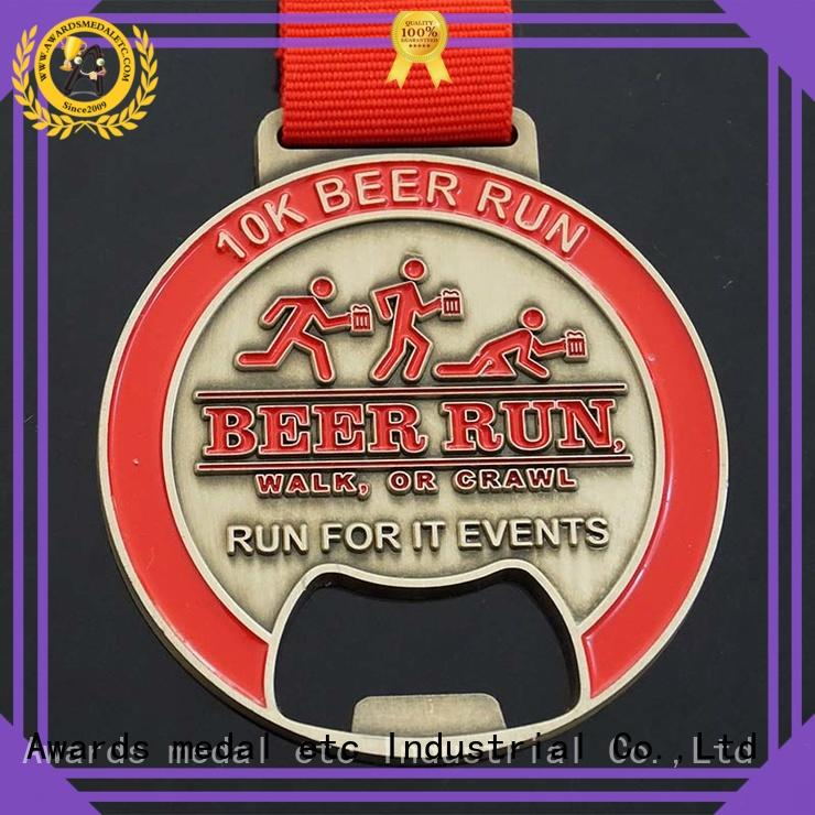 fashion custom beer bottle opener customized for events Awards Medal