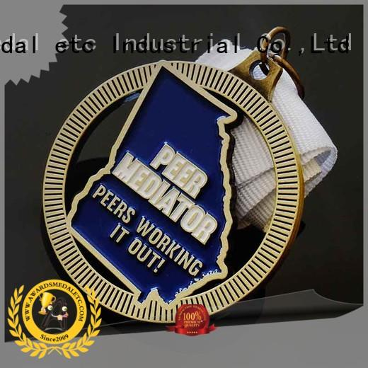 fashion bespoke medals white supplier for gifts