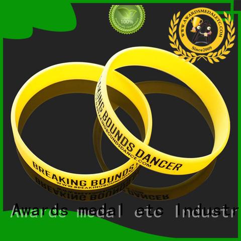 Awards Medal printed custom silicone bracelets trader for event