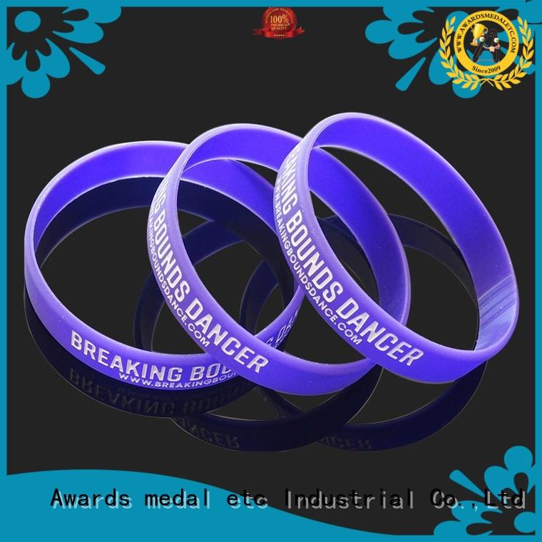 Awards Medal commercial custom silicone wristbands trader for sport