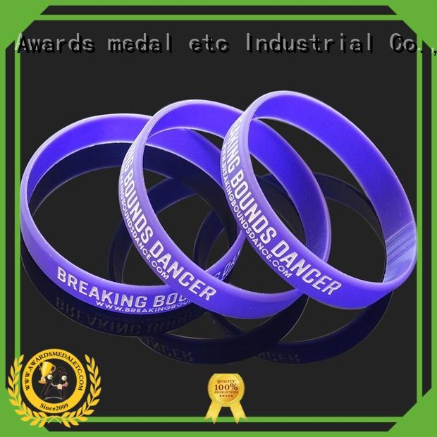 commercial custom silicone bracelets wristband trader for event
