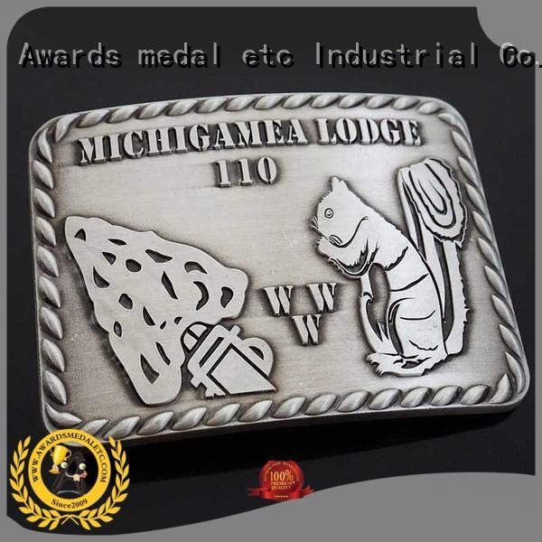 Awards Medal struck belt buckle manufacturers personalized for sale