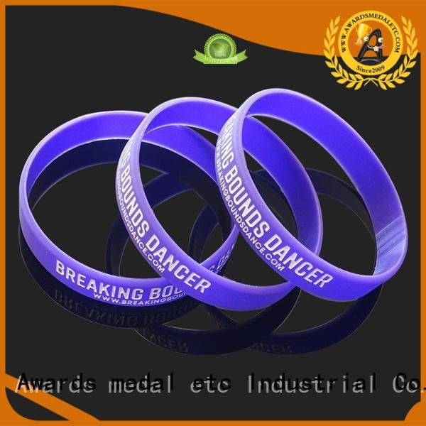 Awards Medal commercial silicone wristbands exporter for event