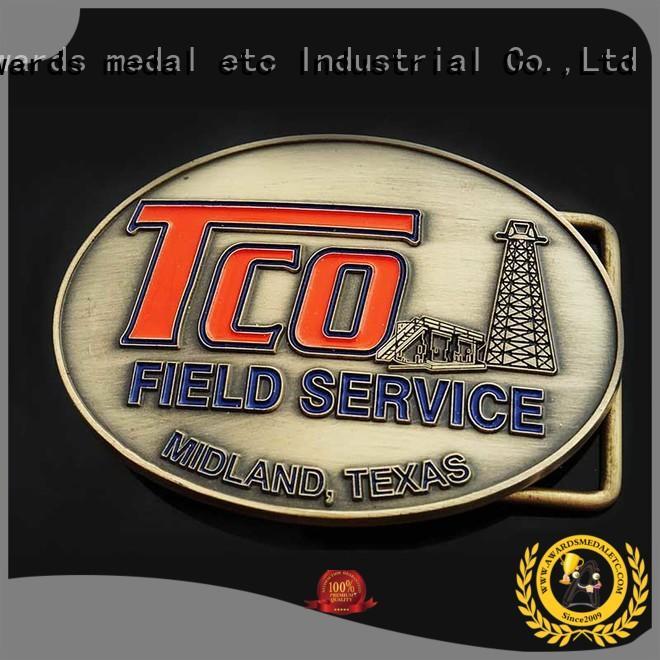 Awards Medal steel custom belt buckles manufacturer for mass-market